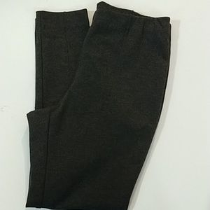 J.Jill charcoal gray ponte leggings sz Large (290)